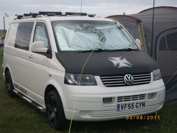 Iron Cross Bonnet Bra / Cover for VW Transporter T5-2569
