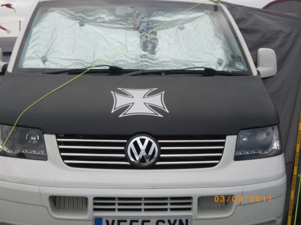 Iron Cross Bonnet Bra / Cover for VW Transporter T5-2571