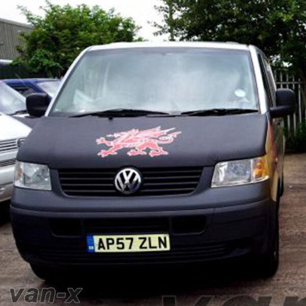 Bonnet Bra / Cover Welsh Dragon for VW Transporter T5-0