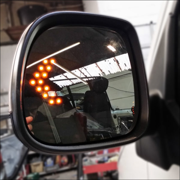 LED Wing Mirror Lens for VW T5 Non-Heated-7790