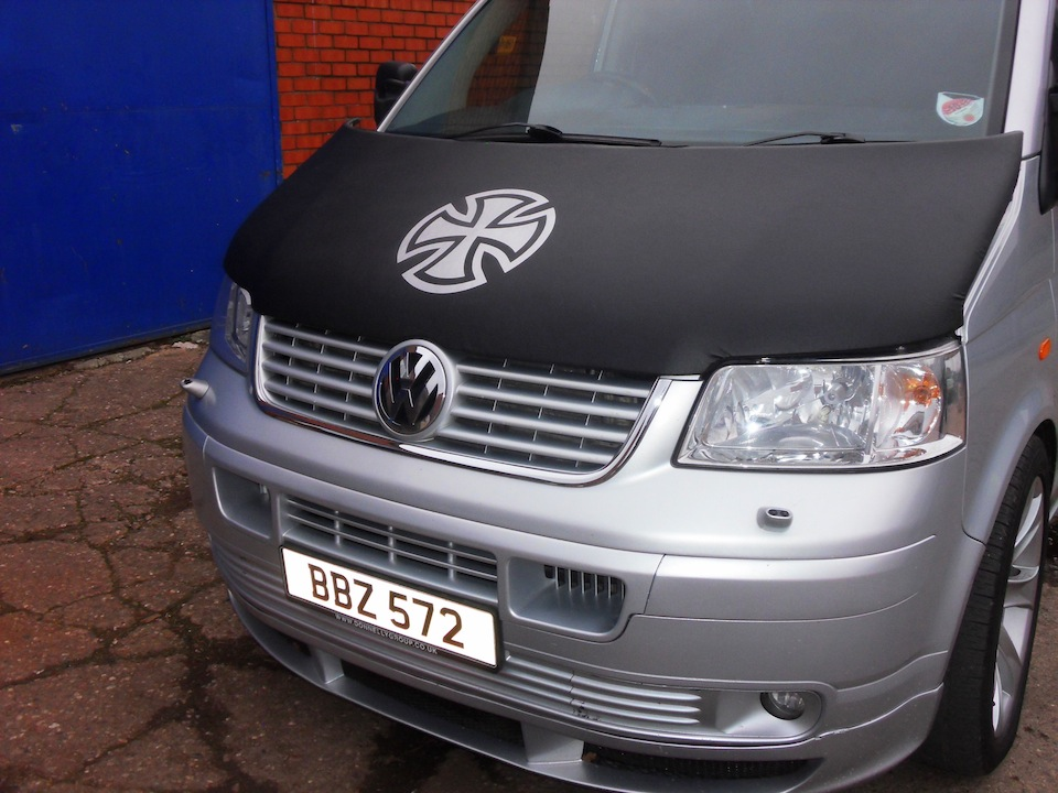 Bonnet Bra / Cover Silver French Cross for VW Transporter T5-1340