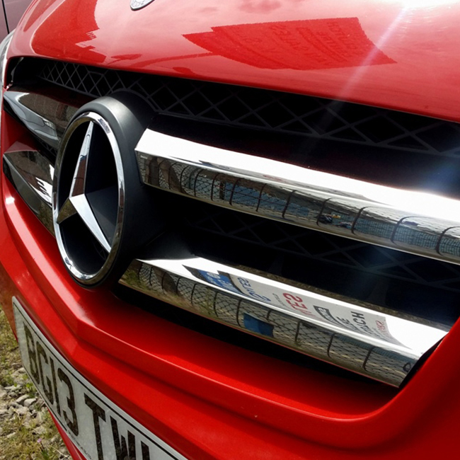 Front Grille for Mercedes Vito 4 Piece Stainless Steel -0