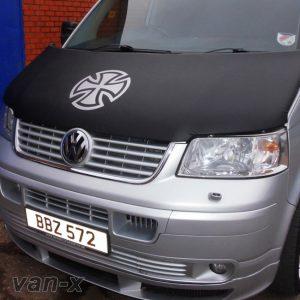 Bonnet Bra / Cover Silver French Cross for VW Transporter T5-19650