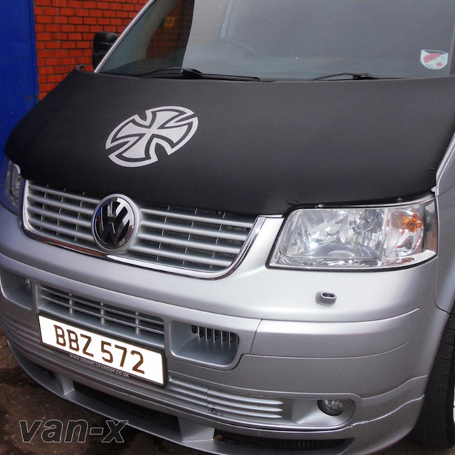 Bonnet Bra / Cover Silver French Cross for VW Transporter T5-19650