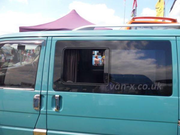 Side Window Sliding Glass for VW T4 Transporter Smoked-1267