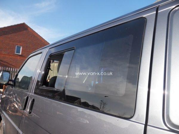 Side Window Sliding Glass for VW T4 Transporter Smoked-3190