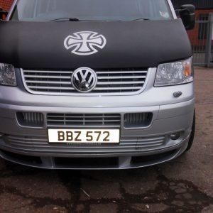 Bonnet Bra / Cover Silver French Cross for VW Transporter T5-1338