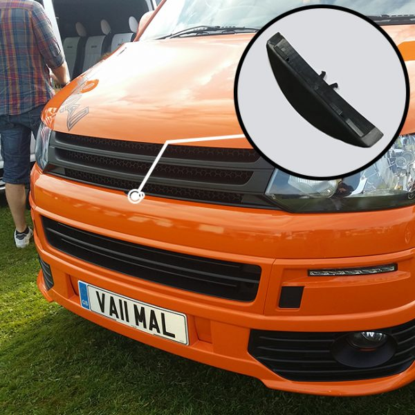 Front Badgeless Grille for VW Volkswagen T5.1 (MATTE)-0