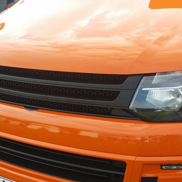 Front Badgeless Grille for VW Volkswagen T5.1 (MATTE)-8661