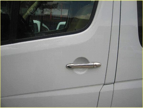Door Handle Covers (4 Pcs) for VW Crafter Stainless Steel -2194