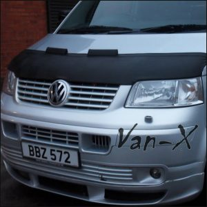 Half Bonnet Bra Black with Wind Deflectors for VW Transporter T5-0
