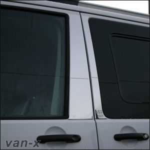 Door Pillar Trims for VW T5 Transporter Stainless Steel -0