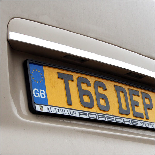 Rear Tailgate Number Plate Edge Trim for VW T5 Transporter-6364