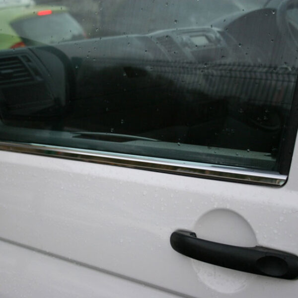 Window Sill Trims for VW T5 Transporter Stainless Steel-0