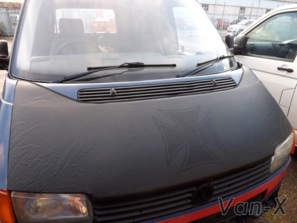 Bonnet Bra / Cover Black Iron Cross for VW Transporter T4 S.NOSE-3107
