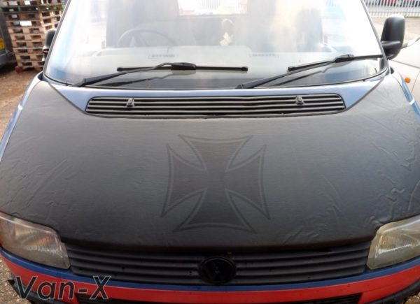 Bonnet Bra / Cover Black Iron Cross for VW Transporter T4 S.NOSE-3108