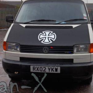 Bonnet Bra / Cover Silver French Cross for VW Transporter T4 S.NOSE-2460