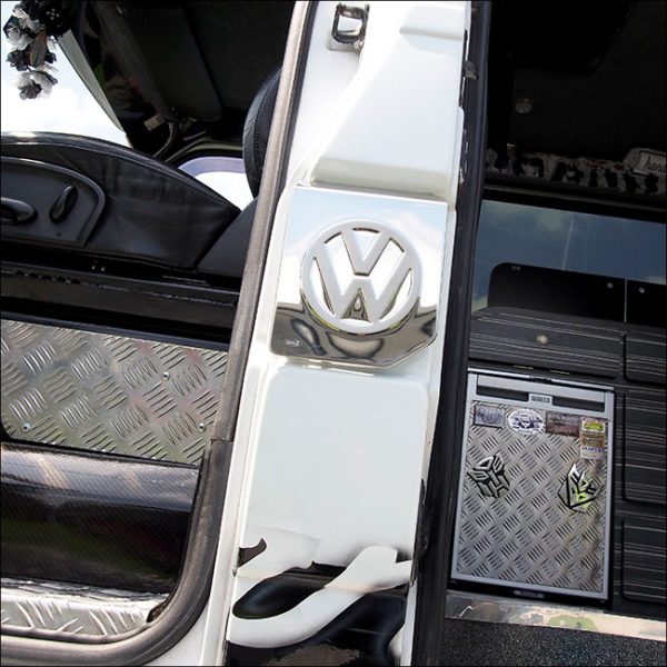 Fuel Cap Flap Cover for VW T4 Transporter Stainless Steel -6735