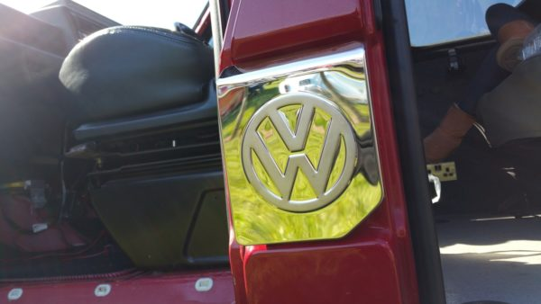 Fuel Cap Flap Cover for VW T4 Transporter Stainless Steel -3608