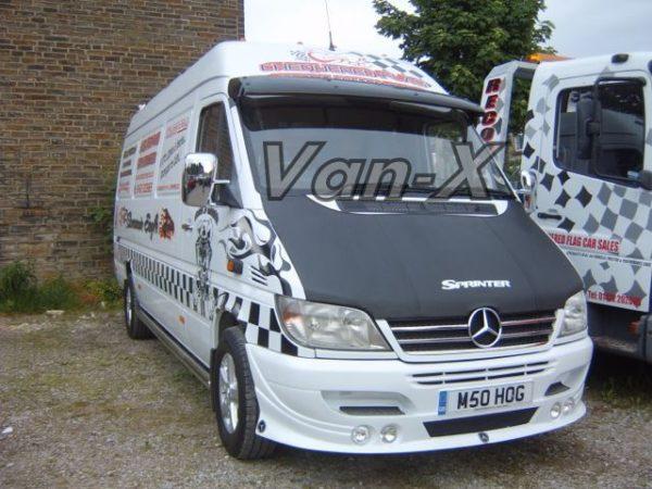 Bonnet Bra / Cover Silver Sprinter Logo for Mercedes Sprinter MK2-3309