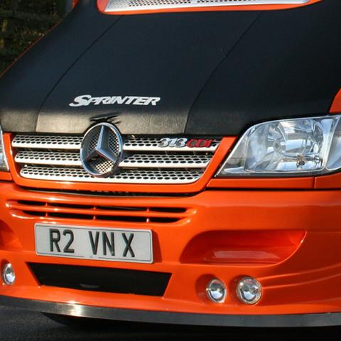 Bonnet Bra / Cover Silver Sprinter Logo for Mercedes Sprinter MK2-0