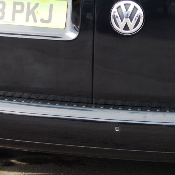 Black Rear Bumper Protector for VW Caddy-19875