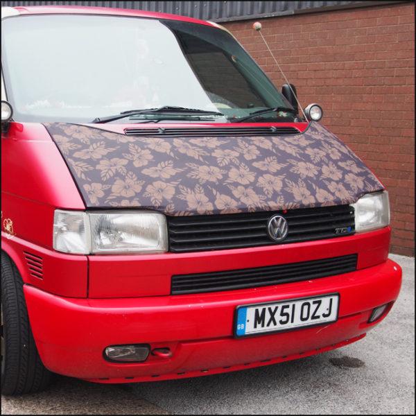 Bonnet Bra / Cover Flowers HD Print for VW Volkswagen T4 Transporter-4586