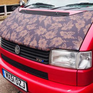 Bonnet Bra / Cover Flowers HD Print for VW Volkswagen T4 Transporter-19916