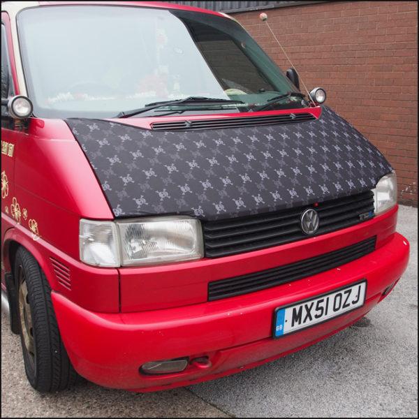 Bonnet Bra / Cover Skulls HD Print for VW Volkswagen T4 Transporter-4612