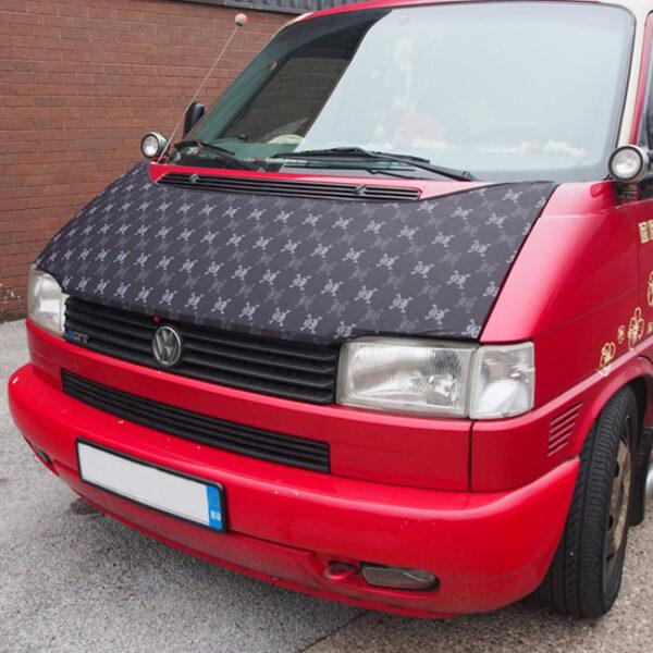 Bonnet Bra / Cover Skulls HD Print for VW Volkswagen T4 Transporter-0