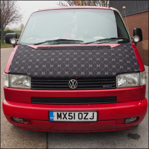 Bonnet Bra / Cover Skulls HD Print for VW Volkswagen T4 Transporter-4611