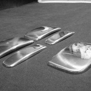 Door Handle Covers (5 Pcs) for Citroen Berlingo / Peugeot Partner Stainless Steel -5132