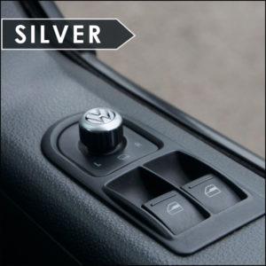 Mirror Switch / Cap (Aluminium) for VW T5, T6, Caravelle, California-6023