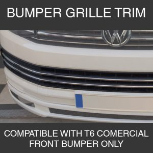 Front Bumper Trim for VW T6 Transporter Stainless Steel-0