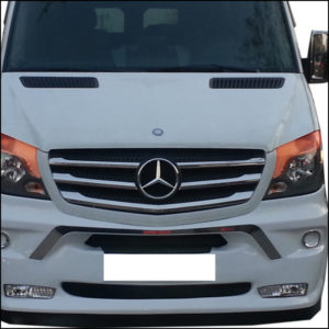 Front Grille Trims Stainless Steel (5 Pcs) for Mercedes Sprinter-6261