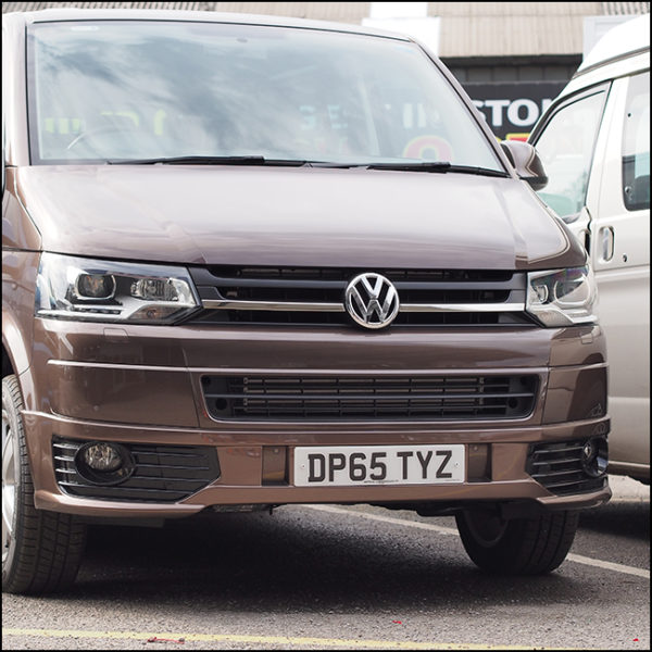 SINGLE-LINE Front Grille Trim (2 PCS) for VW T5.1 Transporter-6283