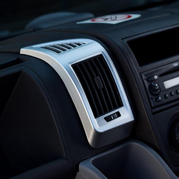 Dashboard Air Vent (SILVER) for Fiat Ducato, Peugeot Boxer & Citroen Relay-20044