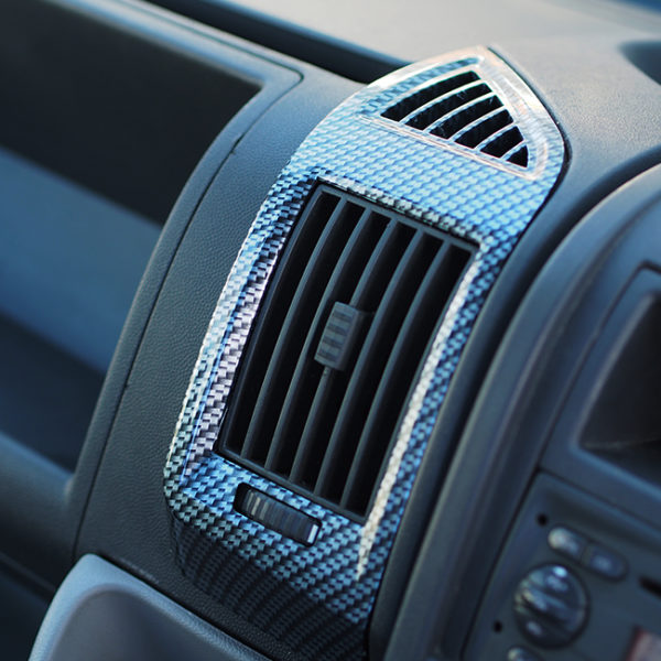 Dashboard Air Vent (SILVER CARBON) for Fiat Ducato, Peugeot Boxer & Citroen Relay-20035