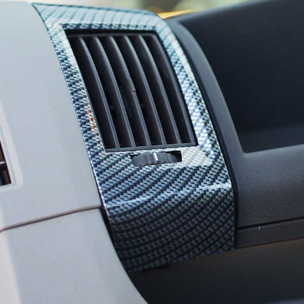 Dashboard Air Vent (SILVER CARBON) for Fiat Ducato, Peugeot Boxer & Citroen Relay-20034