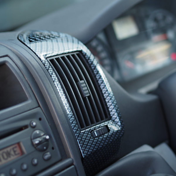 Dashboard Air Vent (SILVER CARBON) for Fiat Ducato, Peugeot Boxer & Citroen Relay-20031