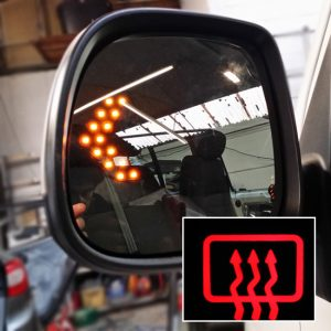 Heated LED Mirror Lens for VW T6 Transporter-0