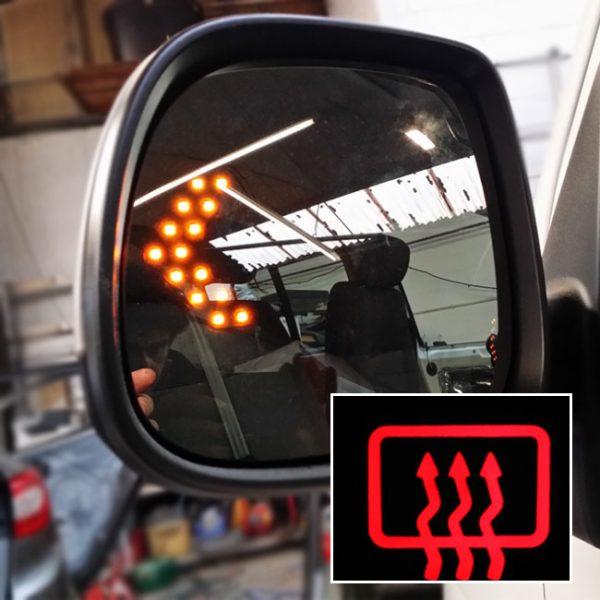 Heated LED Mirror Lens for VW T6 Transporter-0