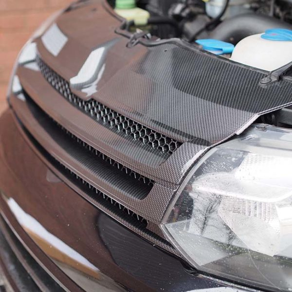 DARK CARBON Badgeless Grille for Volkswagen T5.1 *CLEARANCE* [B Grade] -7209