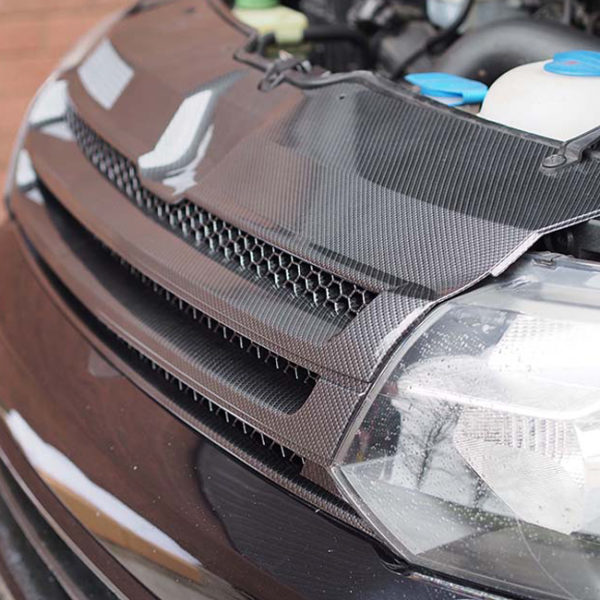 DARK CARBON Badgeless Grille for Volkswagen T5.1 *CLEARANCE* [B Grade] -20078