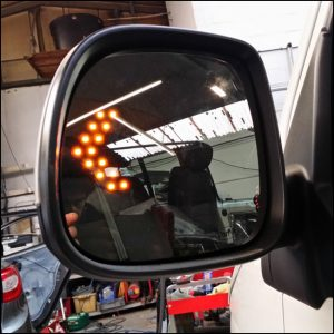Heated LED Mirror Lens for VW T6 Transporter-7216
