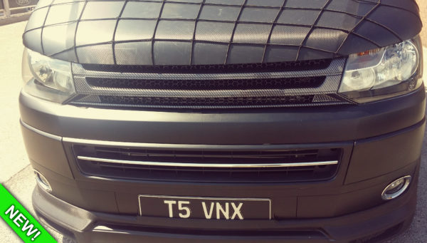 SILVER CARBON Badgeless Grille for Volkswagen T5.1 *CLEARANCE* [B Grade] -7140