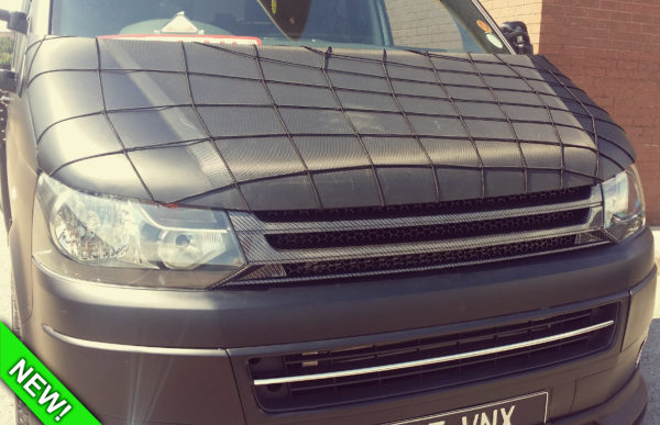 SILVER CARBON Badgeless Grille for Volkswagen T5.1 *CLEARANCE* [B Grade] -7141