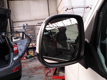 Heated LED Mirror Lens for VW T6 Transporter-7212
