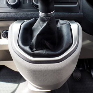 Gear Stick Surround for VW T6 Transporter Brushed Stainless Steel-7618