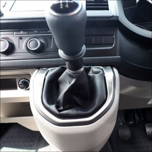 Gear Stick Surround for VW T6 Transporter Brushed Stainless Steel-7619